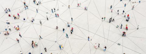 People networked with each other